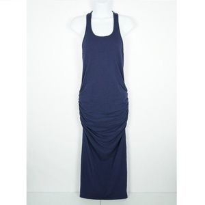 Michael Stars Midi Dress Racerback Navy Blue